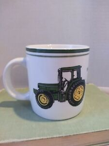 John Deere Coffee Cup Mug White Green Licensed Product Gibson. Collectible!