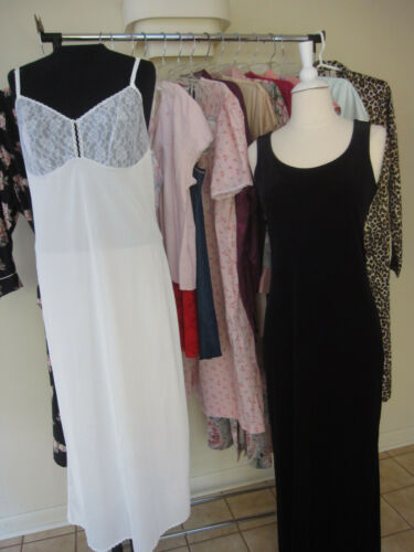 18 Pc Lingerie Assorted Lot Nightgowns House Coat… - image 1