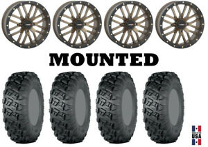 Kit-4-ITP-Versa-Cross-Tires-33x10-18-on-System-3-ST-3-Bronze-Wheels-CAN