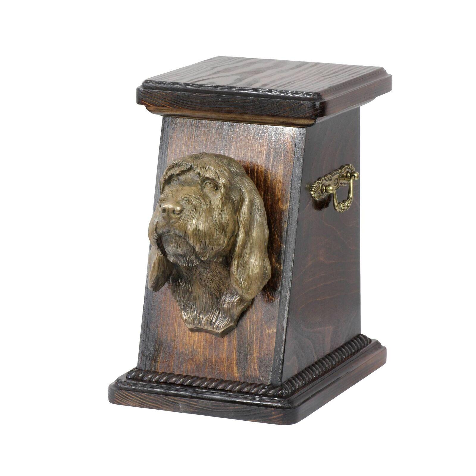 Basset Griffon Vendéen - urna di legno con l'immagine di un cane ArtDog IT Tipo3