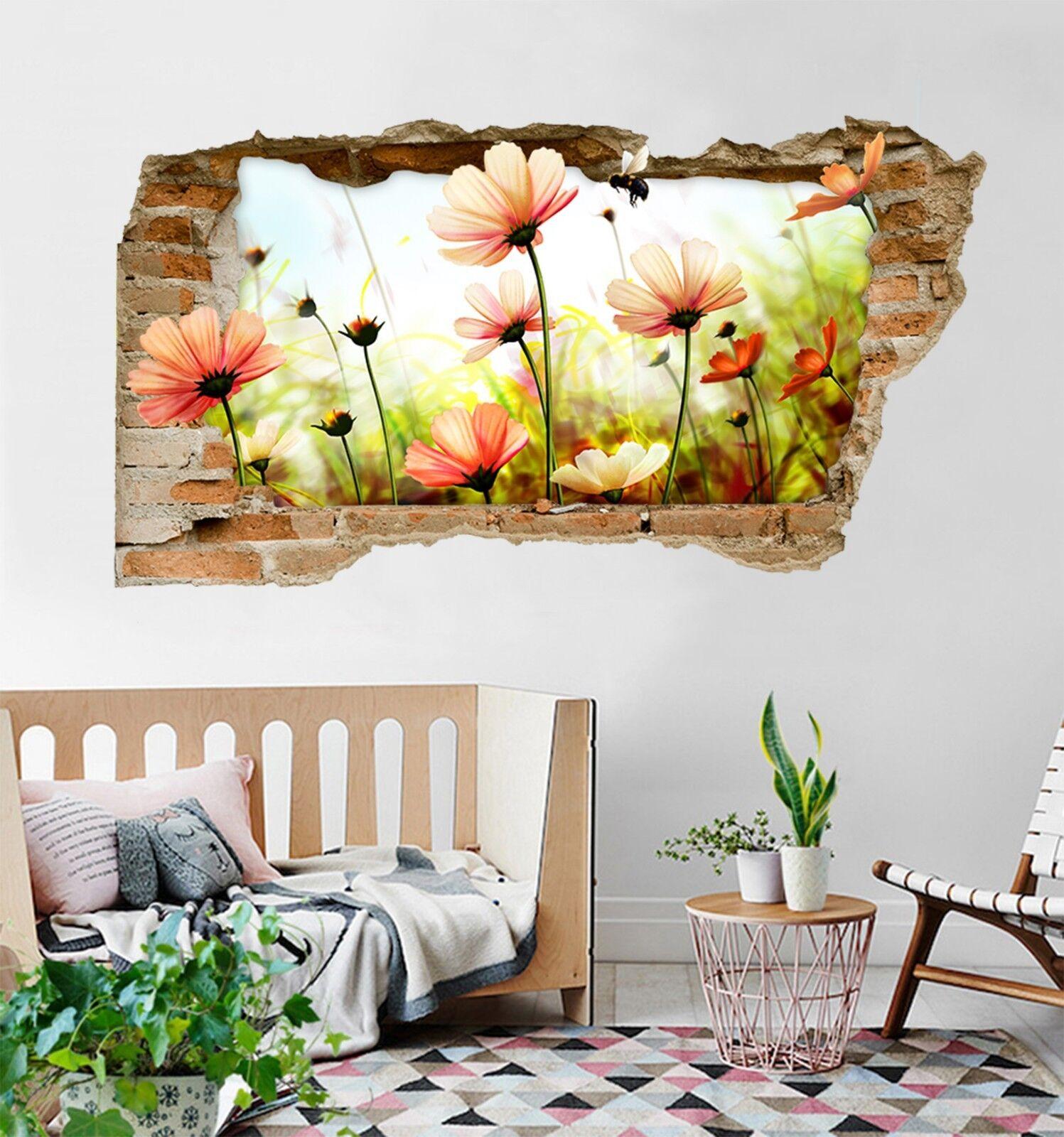 3D Blumen Biene 308 Mauer Murals Mauer Aufklebe Decal Durchbruch AJ WALLPAPER DE