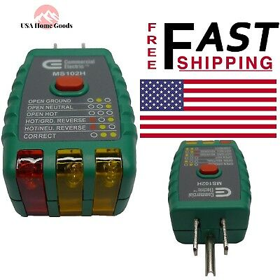 Multi-function GFCI Outlet Tester Electrical Meter Wiring Detector on