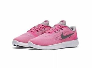 b82af6acef266 Nike Free RN GS Pink Blast Silver Girls Women Running Shoes 833993 ...