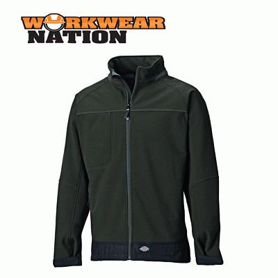 Dickies Combrook Softshell Jacket Waterproof Breathable Shooting Moss Green