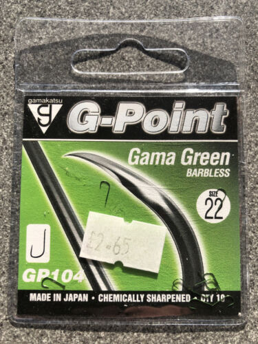 Gamakatsu Gama Green Hooks Spade Barbless