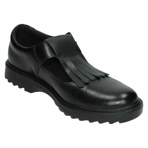 GIRLS SENIOR YOUTH CLARKS ASHER VERVE Y BUCKLE FORMAL SCHOOL SHOES T BAR SIZE