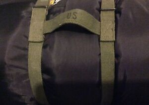US-Military-Army-GI-Sleeping-Bag-Carry-Carrying-Canvas-Cotton-Web-Straps-NOS-USA
