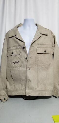 Vintage Hedz-Up Avewear Men's XL Tan Denim Jacket