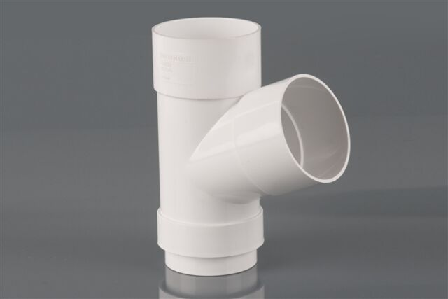 WHITE ROUND Down Pipe BRANCH