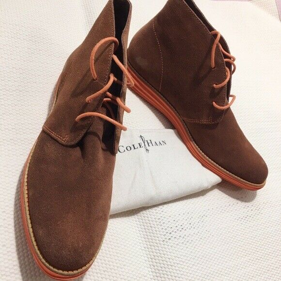 b31e5181e8 Cole Haan Lunargrand Chukka Brown Suede Orange Women's Lace up Flats Ankle  BOOTS 8 for sale online | eBay