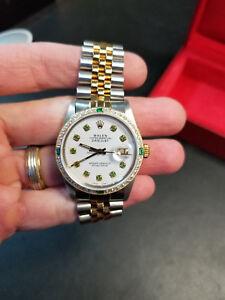 5175e9e737e La foto se está cargando Rolex-Datejust-16013-dos-tonos-36-mm-Diamante-