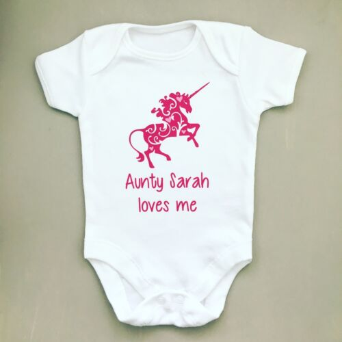 PERSONALISED baby girl clothing UNICORN vest babygrow great baby shower gift