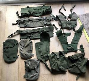 British Army 58 Pattern Webbing, Poncho Rolls,Ammo Pouches,Yoke's Joblot