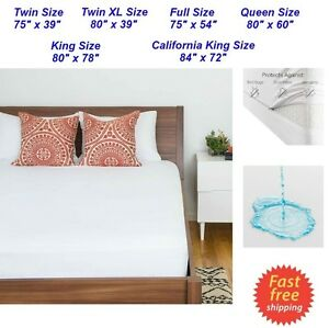 zippered waterproof mattress protector king queen full twin size