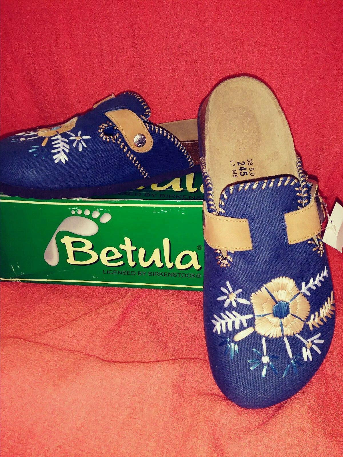 Betula Textile Multi blå Clog Sandals. Sandals. Sandals.  köpa rabatter
