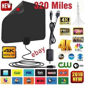 300 Mile Range Antenna TV Digital HD Skywire 4K Antena HDTV 1080P Amplifier Fox