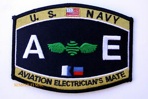 US-NAVY-Aviation-Electrician-039-s-Mate-AE-RATING-HAT-PATCH-USS-PIN-P-ENLISTED-CHIEF