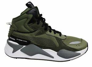 Puma-RS-X-Midtop-utilidad-Verde-Oliva-Con-Cordones-Casual-Zapatillas-para-hombre-369821-01