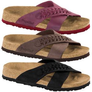 Birkenstock-Papillio-Daytona-geoeltes-Nubukleder-Schuhe-Damen-Pantoletten-Sandale