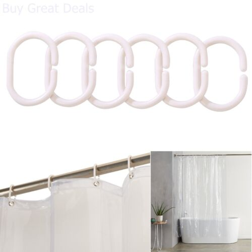 Shower Curtain Ultra Heavyweight 20 Gauge PVC Liner With Hooks Mildew Resistant