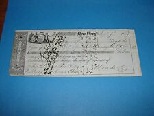 1857 New York Bank Check from MEAD Paper COMPANY Mt Vernon Ohio to Vore & Blake