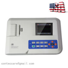 Single Channel 12 Lead Portable Ecg Machine Electrocardiograph W Thermal Printer