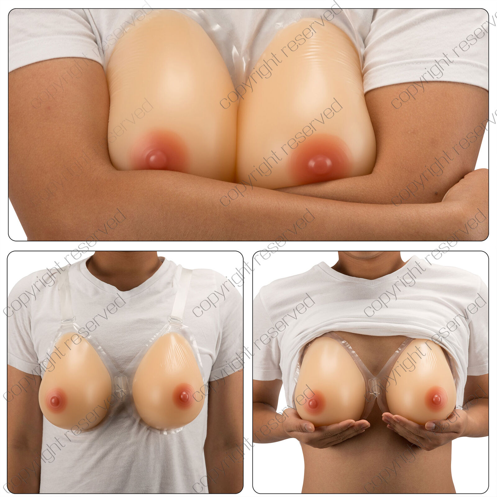 Enhancer Fake D Cup Breast Forms False Silicone Boobs Cosplay Cross Dresser Bra