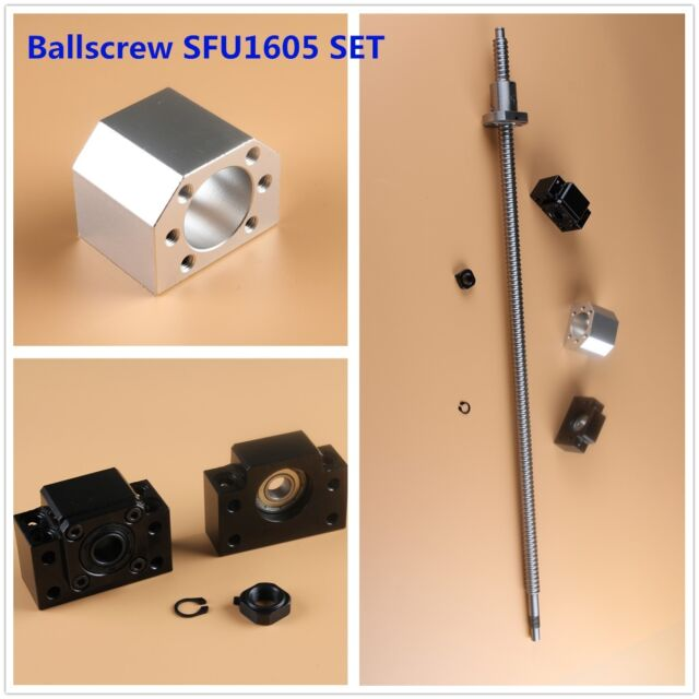 1500MM CNC Ball Screw RM1605 C7 /& BK//BF12 End Support /& Ballnut Housing