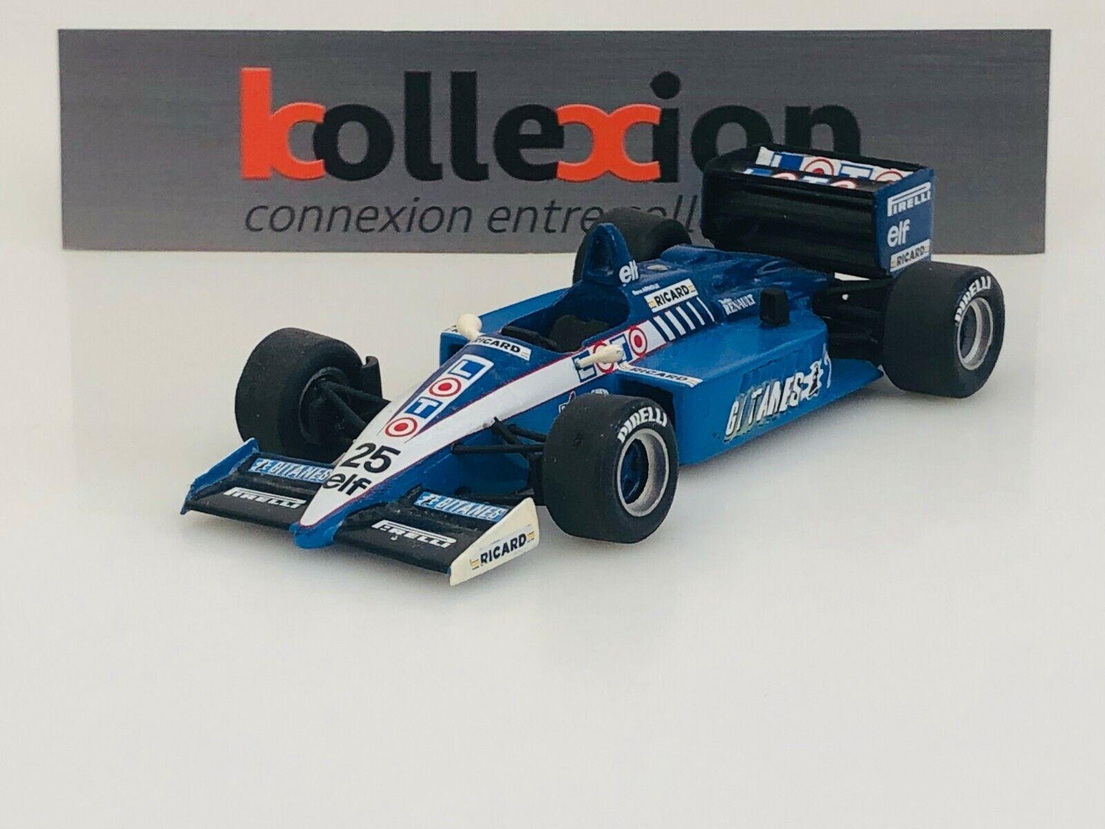 Merrikitlicher js27 Renault n - 25 25 25 gitanes   loto GP F1 Mónaco 1986 R. Arnold 1.43 925