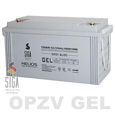 OPZV Gel Batterie 12V 100AH Akku Panzerplatte Boot Schiff Yacht Marine Batterie