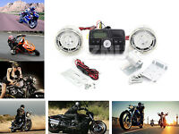 Bluetooth Motorcycle Handlebar Audio Amplifier Stereo Speaker System Mp3 Usb