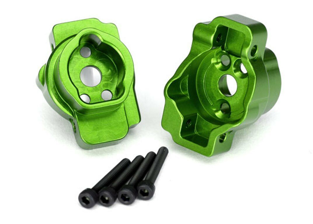 Portal drive axle mount, rear 6061-T6 aluminum verde-anodized Traxxas TRA8256G