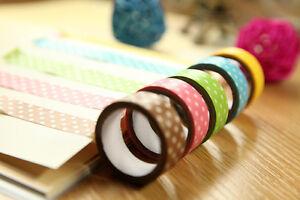 15mm Wide DIY Flower Decorative Craft Paper Washi Tape Decor Making Sticker gbm