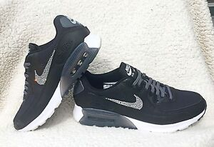 Womens Nike Air Max 90 Ultra Essential Black Nikes W Swarovski ... d8d1486b8