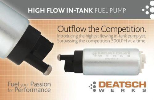 DeatschWerks 300 LPH In-Tank Fuel Pump /& Kit 90 91 92 93 94 Eclipse Talon Laser