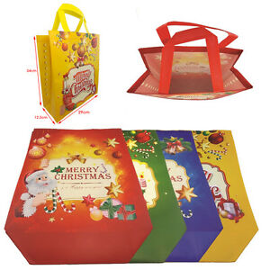 image is loading large christmas gift bags decorative luxurious xmas present - Large Christmas Gift Bags