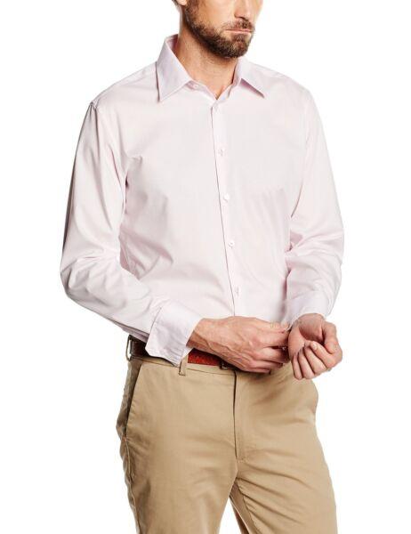 100% Vero Seidensticker Uomo Camicia Manica Lunga Onu Super Slim Stretch Classic Rosa 573666.41 Tecnologie Sofisticate