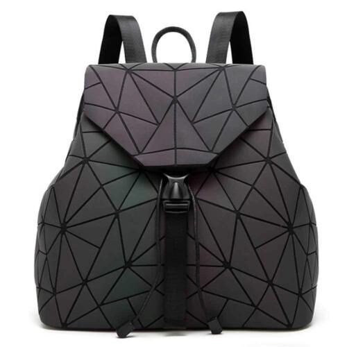 Diomo Geometric Lingge Women Backpack Luminous Flash Mens Travel Shoulder Bag Ru