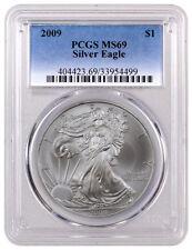 2009 $1 1 Troy Oz American Silver Eagle PCGS MS69 SKU40116