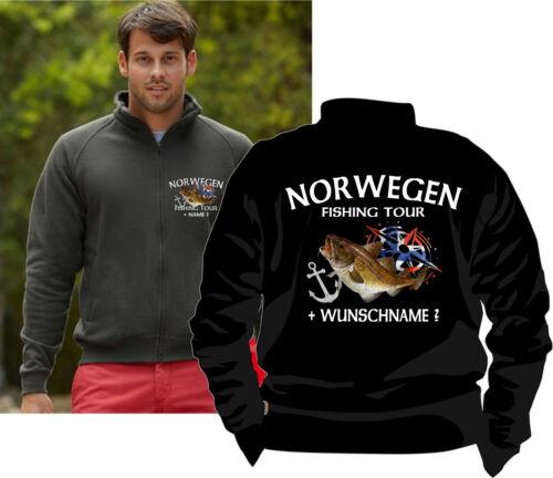 Anglerjacke Norwegen Jacke Pullover Norge Fishing Angelreisen Urlaub Angeln 124