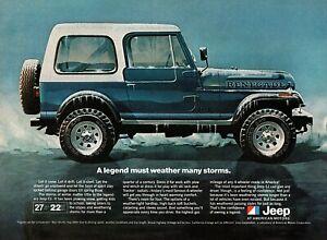 "1981 Jeep CJ-7 Renegade ""Weather Many Storms"" Original Color Ad"