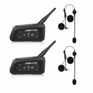 LEXIN 2X Pro R6 Auriculares Intercomunicador Moto Casco Bluetooth hasta 6 Jinete