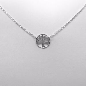 925-Genuine-Sterling-Silver-Dainty-Tree-of-Life-Circle-Necklace