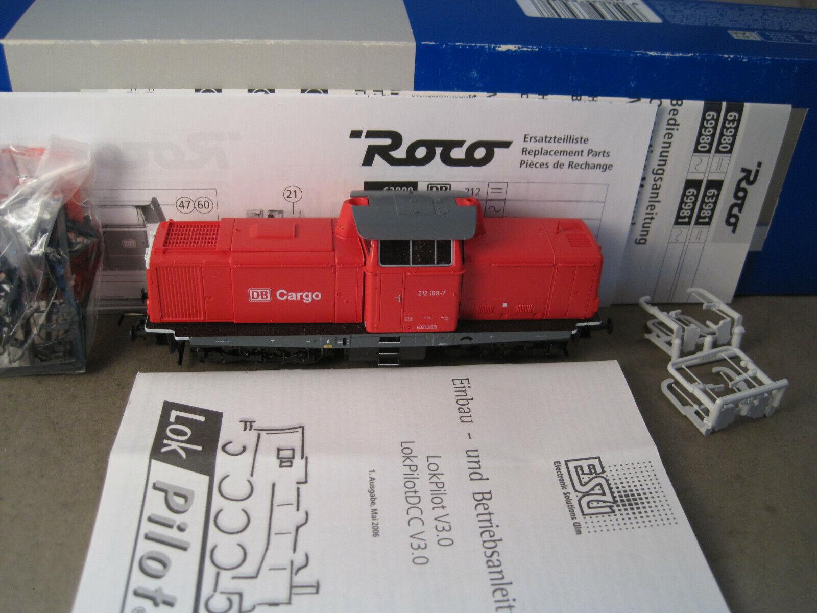 Roco H0 63980 BR 212 DB AG  digital   OVP + Anleitung + Zurüstteile