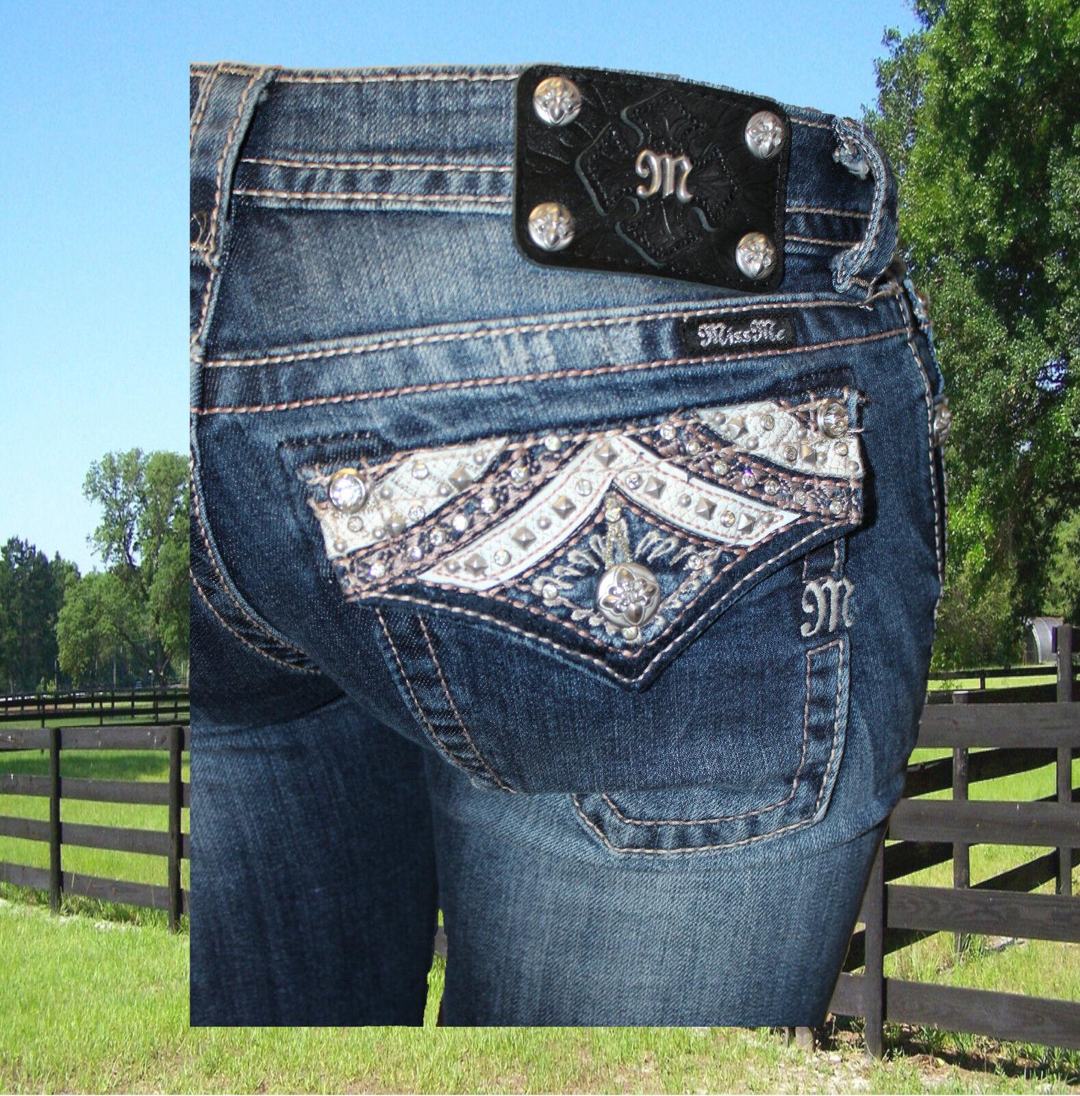 Miss Me Jeans Damen Skinny JP5705S Miss Me Modejeans Western