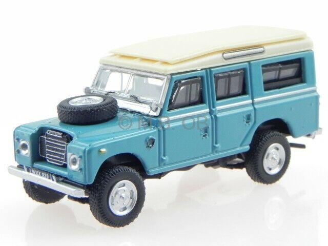 Land Rover Series IIA 109 blau-weiss 1958 Modellauto WB135 Whitebox 1:43