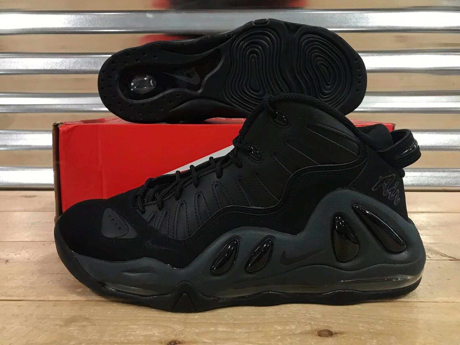 Nike Air Max Uptempo 97 shoes Pippen Black Anthracite SZ ( 399207-005 )