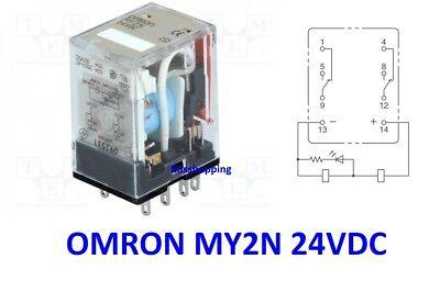 Omron My2n 24vdc S New Japan Dpdt Intermediate Relay 8 Pins 10a 250vac Ebay