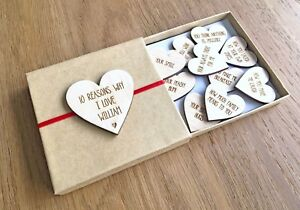 Details About Personalised Anniversary Gifts For Him Her Girlfriend Husband I Love You Gifts