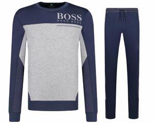 ac2f0e208 Hugo Boss Saltech HL Tech 50399319 410 Crew Neck Mens Tracksuit Blue ...
